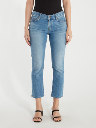 Current/Elliott The Scooped Ruby Crop Low Rise Jean