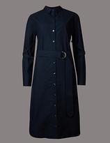 Autograph Pure Cotton Long Sleeve Shirt Dress