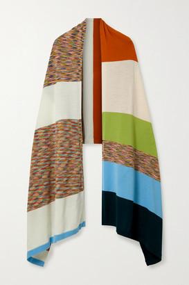 Missoni Striped Wool-jacquard Wrap - Ivory