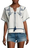 Ella Moss Marini Embroidered Top