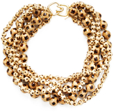 Kenneth Jay Lane Burnt Wood Statement Necklace