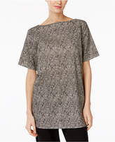 Eileen Fisher Organic Cotton Boat-Neck Tunic