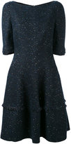 Talbot Runhof speckled mini bell dress - women - Acetate/Polyamide/Cupro/Metallized Polyester - 36