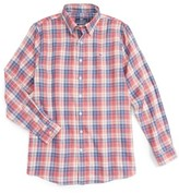 Vineyard Vines Boy's Cross Sound Plaid Woven Shirt