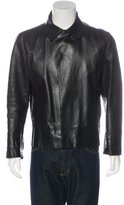 CNC Costume National Leather Collared Jacket