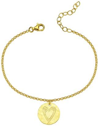 Smilla Brav Heart Pendant Good Luck Vermeil Bracelet