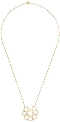 Ralph Masri 18kt Yellow Gold Diamond Geometric Pendant Necklace