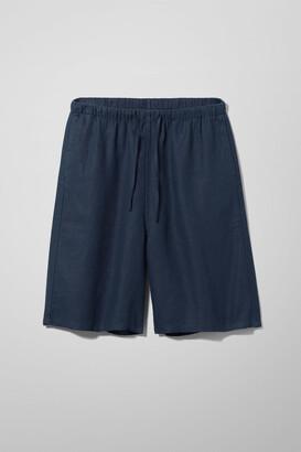 Weekday Eskil Linen Shorts - Beige