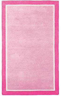 Pottery Barn Teen Capel Border Rug, 5'x8', Pale Pink/Bright Pink