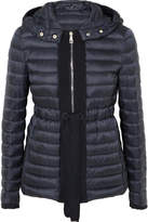 Moncler Grosgrain-trimmed Quilted Shell Down Jacket - Navy
