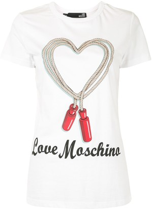 Love Moschino jumping rope logo print T-shirt