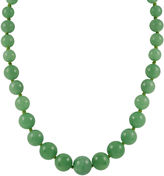 JCPenney FINE JEWELRY 14K Gold Jade Graduated Bead Necklace