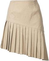 Sea pleated mini skirt