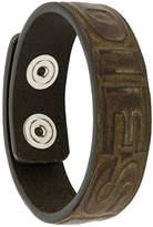 Diesel embossed bracelet