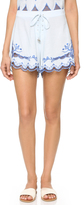 Somedays Lovin Azul Cutwork Tie Shorts