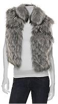 Silver Fox Fur Cropped Vest