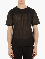 White Mountaineering Black Mesh Panels Pocket T-Shirt