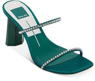 Dolce Vita Women's Naylin Crystal-Embellished High-Heel Sandals