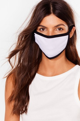 Nasty Gal Womens It's Up Two-Tone You Fashion Face Mask - Black - ONE SIZE, Black