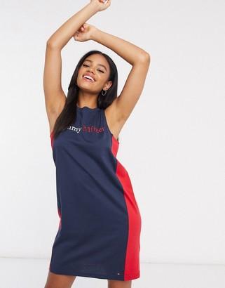 Tommy Hilfiger loungewear logo singlet dress in navy