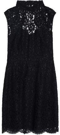 Sandro Open-Back Lace Mini Dress