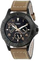 Timex Men's Retrograde T2P040 Brown Cloth Analog Quartz Watch with Dial