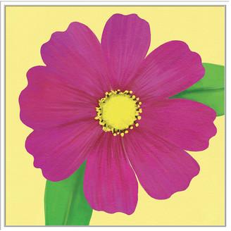 Jonathan Bass Studio Flower Art 13, Decorative Framed Hand Embellished Canvas