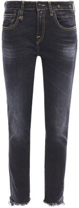 R 13 Tarlton Frayed Faded Mid-rise Skinny Jeans