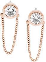 Michael Kors Crystal Convertible Draped Chain Earrings