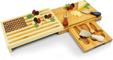 Picnic Time Old Glory American Flag Cutting Board with Cheese Tools