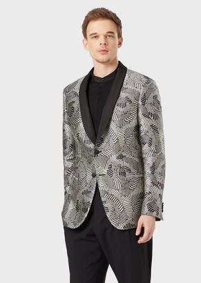 Giorgio Armani Soho Collection Slim-Fit, Half-Canvas Jacket In Ottoman Satin