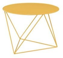 Corrigan Studio Stork Abstract End Table Color: Blue