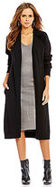 Gianni Bini Laine Eyelash Shoulder Long Sleeve Maxi Cardigan