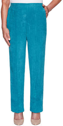 Alfred Dunner Misses Short Walnut Grove Womens Straight Pull-On Pants