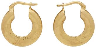 Jil Sander Gold Slim Round Earrings