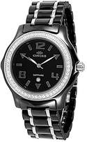 MOP Oniss Paris Women'S ON806-L Blk Ladies, High Tech Ceramic Case and Band with Stainless Steel Middle Links ,Swiss Movement, Sapphire Crystal, Dial,52 Austrian Crystals on Bezel - White Watch