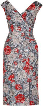 Erdem Jyoti Button-detailed Brocade Dress