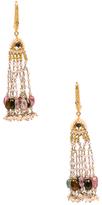 Amrita Singh 22k Gold Tourmaline and Uncut Diamond Zaina Earrings