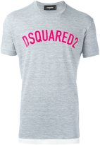 DSQUARED2 dual fabric logo T-shirt