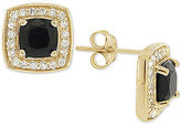 Giani Bernini Black Cubic Zirconia Square Stud Earrings in 18k Gold-Plated Sterling Silver, Only at Macy's