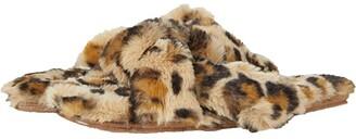 Madewell Crisscross Slipper (Desert Dune Multi Leopard Faux Fur) Women's Slippers