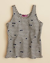 Aqua Girls' Digital Heart Print Crop Tank Top , Big Kid - 100% Exclusive