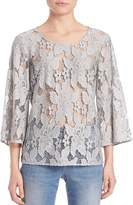 SET Women's Three-Quarter Sleeve Lace Blouse