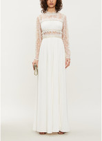 Self-Portrait Self Portrait Embellished lace and crepe maxi dress