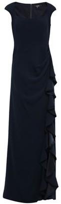 Badgley Mischka Ruffled Silk Satin-trimmed Cady Gown