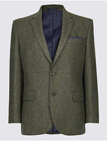 M&S Collection Pure Wool Textured Jacket