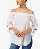 Love, Fire Juniors' Cotton Off-The-Shoulder Top