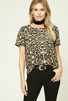 Forever 21 FOREVER 21+ Contemporary Leopard Print Top