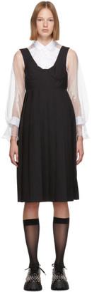 Noir Kei Ninomiya Black Wool Bustier Dress