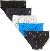 U.S. Polo Assn. Men's 5-Pack Solid Low Rise Brief